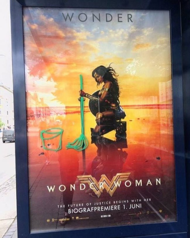 mujeres en lucha, feminismo, wonderwoman, chistes, humor, machista