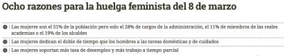 mujeres en lucha, feminismo, razones para la huelga, 8 de marzo, paro, huelga